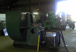 Diesel Motor Coupled to Grainair Fan