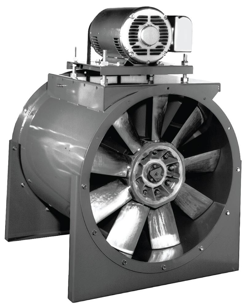 Adjustable Pitch Vane Axial Belt Drive Fan