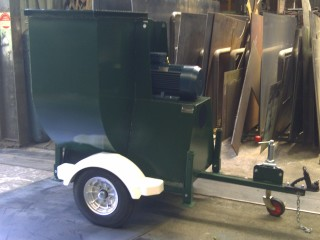 MA Series on trailer - grain bunkers